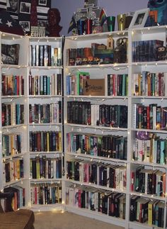 Library Bookshelves, Bookshelf Design, Bookcases, Bookshelf Organization, Bookshelf Inspiration, Library Inspiration, Home Library Design, Dream Library, I Love Books