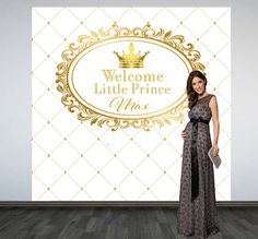 Royal Baby Shower Backdrop Photo Booth Backdrop by DazzleBabies