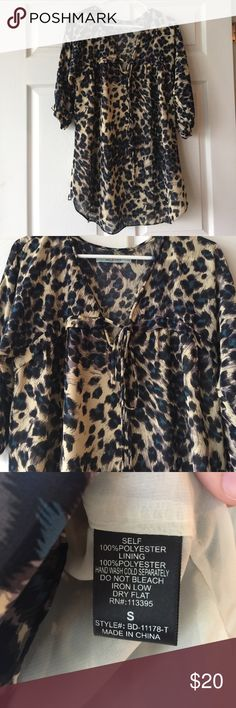 Karlie animal print tunic Seriously the cutest tunic! Size small. Lined. Karlie. karlie Tops Tunics