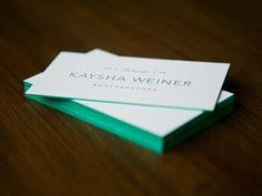 Edged Business Cards by Ashley Jankowski for Braizen
