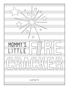mommys little firecracker download this and more free printables from carters cricut craft