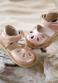 Livie and Luca Shoes - Petals in Rose Gold Metallic Leather