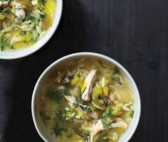 Lemony Chicken & Orzo Soup        Lemony Chicken and Orzo Soup Recipe  at Epicurious.com