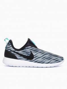 7f58ae811ac0 ... france roshe run slip on gpx from the summer nike collection in  electric black and white