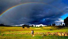 Rainbow, the smile of the earth.      Ayacucho, Perú