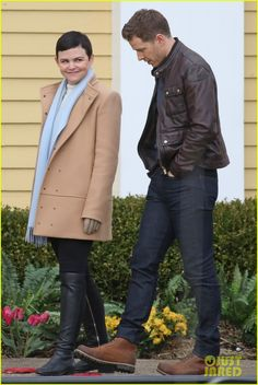 Ginnifer Goodwin & Josh Dallas Get Cozy on Set of 'Once Upon a Time'