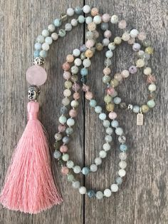 Yoga necklace with silk tassel - Schmuck DIY - Jewelry Tassel Jewelry, Yoga Jewelry, Jewelry Gifts, Diy Jewelry, Beaded Jewelry, Jewelery, Silver Jewelry, Handmade Jewelry, Jewelry Necklaces