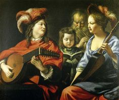 The Concert by Le Nain brothers. Baroque. genre painting