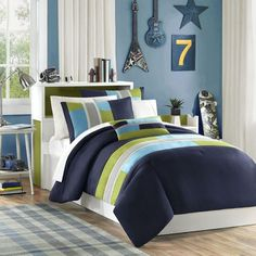 Mizone Pipeline Navy Bedding By Mizone Bedding, Comforters, Comforter Sets, Duvets, Bedspreads, Quilts, Sheets, Pillows: The Home Decorating Company