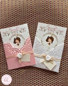 Girl First Communion Invitation First Communion Cards, Holy Communion Invitations, First Communion Favors, Christening Invitations, First Holy Communion, Communion Cakes, Communion Centerpieces, Communion Decorations, Shower Centerpieces
