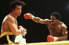 Rocky II - Publicity still of Sylvester Stallone & Carl Weathers Rocky Series, Rocky Film, Rocky Balboa, Live Action, Rocky Stallone, Apollo Creed, Silvester Stallone, Carl Weathers, Costumes