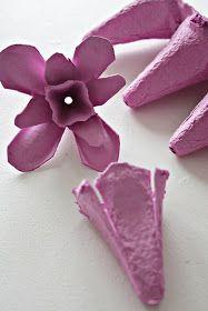 NIB - Norwegian Interior Blogs: DIY: Easter table decorations 1 - from Egg Cartons