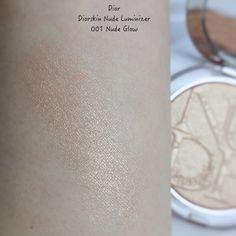Dior Diorskin Nude Luminizer 01 Nude Glow | Lenallure Luminizer, Facial Skin Care, Swatch, Makeup Looks, Routine, Dior, Nude, Make Up Styles, Make Up Looks