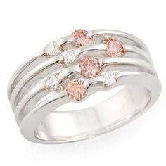 Pink & White Diamonds Ring