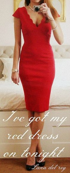 Deep v red dress quotes