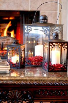 Cerejas na decoração de Natal