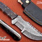LOVELY DAMASCUS CUSTOM HANDMADE FULL TANG HUNTING TRACKER KNIFE HG-737 Hunting Knives, Damascus Steel, Handmade, Hand Made, Handarbeit