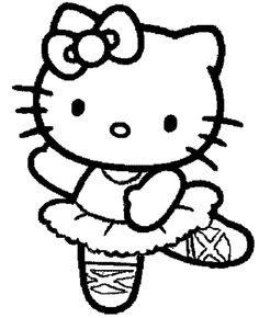 hello kitty is a jig coloring page