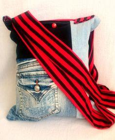 Diy denim handbag patchwork jeans upcycling