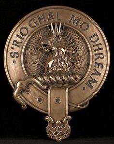 Clan MacGregor Crest Cold Cast Bronze Badge Wall Plaque
