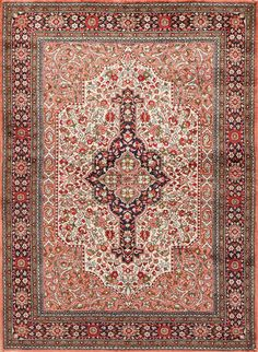 This section comprises an assortment of carpets made with 100% pure silk pile. Pink Rugs, Aubusson Rugs, Handmade Decorations, 100 Pure, Persian Rug, Pure Silk, Rugs Online, Rugs On Carpet, Bohemian Rug
