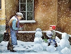 Ilon Wikland  This is an illustration from a beloved book, Erik and the Christmas Horse by Hans Peterson.