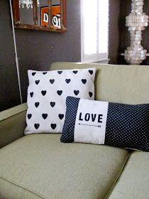 Diy pillow stencil/stamps