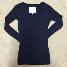 Abercrombie & Fitch v-necks sweater Very soft and warm wool sweater. Purchased a year ago. Seldom worn because size is too small for me. Abercrombie & Fitch Sweaters V-Necks