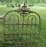 "We hvae some lovely ""new"" vintage garden fence and gates, we are using them to create trellises!"