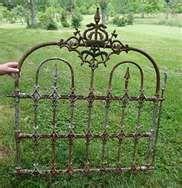 "We hvae some lovely ""new"" vintage garden fence and gates, we are using them to create trellises!"