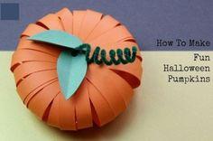 Тыковка из бумаги- декор на Хеллоуин