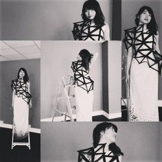 _ Between 2 lectures at #LCCA // an everyday life simple garment designed and made by yours truly �� #finalproject #finalgarment #fashion #student #dress #black #white #ladder #photo #photography #shoot #model #Asian #Japan #Japanese #London #design http://butimag.com/ipost/1555023890894542555/?code=BWUjf1qA9bb