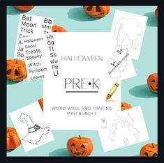 Halloween PreK | Kindergarten | Word Wall | PreWriting | Tracing Cards Spooky Words, Halloween Words, Word Wall Kindergarten, Kindergarten Reading, Funny Effects, Multiple Meaning Words, Community Helpers, Pre Writing, School Themes