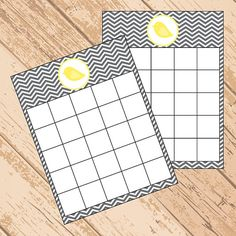 Gray Chevron Bird Baby Shower Bingo Game  You by SOSPrintables, $3.00