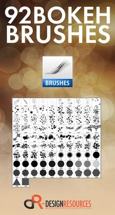 A free set of 92 Bokeh Brushes for Adobe Photoshop. With highest resolution all in one single .abr file.