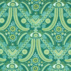 Free Spirit - Filigree 1 - Cotton - green