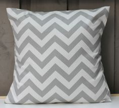 Grey Chevron Cushion Cover by raenne on Etsy, $15.00