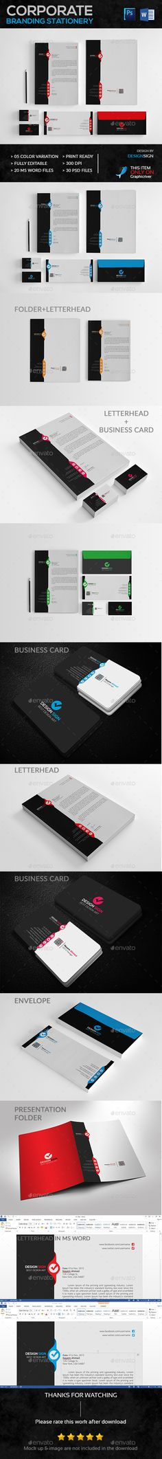 Corporate Branding Stationery Vol. 01 - Stationery Print Templates