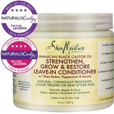SheaMoisture Jamaican Black Castor Oil Strengthen, Grow & Restore Leave-In Conditioner SheaMoisture  $10.99
