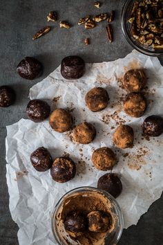 Making little bites that are healthy and good for you takes literally almost no time. All you need is a powerful food processor and a few ingredients. These chocolate protein bites are an example and will not take you more than 15 minutes to make.