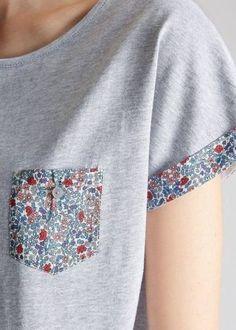 New sewing clothes refashion inspiration ideas ideas Sewing Hacks, Sewing Crafts, Sewing Projects, Upcycled Crafts, Sewing Ideas, Diy Clothing, Sewing Clothes, Rosa T Shirt, Diy Fashion