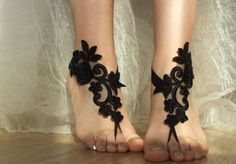 black Beach wedding barefoot sandals   beach wedding barefoot sandals   In them you need to pay attention and you'll feel the queen of the beach!Beach weddings are a great accessory for ... The ideal