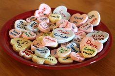 Sweet Talk: Make Your Own Conversation Hearts >> http://blog.diynetwork.com/maderemade/how-to/sweet-talk-make-your-own-conversation-hearts?soc=pinterest