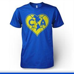 Club America Mexico T-shirt - Pandemic Soccer Club America, Mexico, Soccer, Collar, Grande, Mens Tops, T Shirt, Football, Party
