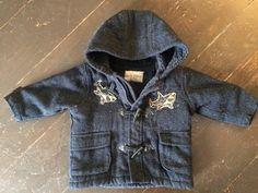 Items similar to Cute and cozy blue little boys custom stenciled peacoat on Etsy Custom Stencils, Little Boys, Hooded Jacket, Raincoat, My Etsy Shop, Cozy, Clothing, Jackets, Blue
