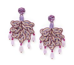 The new colors pf the Foglia earrings...interlaced jute and silk...