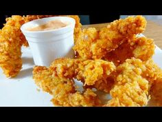 Super Crispy & Crunchy Chicken Fingers - YouTube