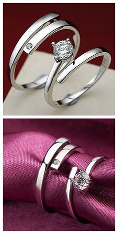 Kiss the lifelong Silver couples Ring