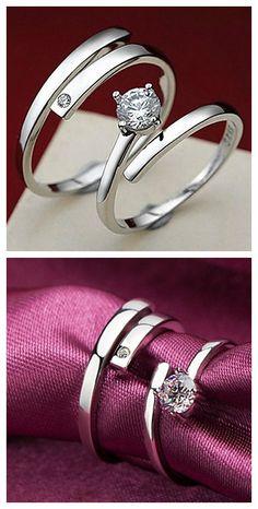 Kiss the lifelong Silver couples Ring