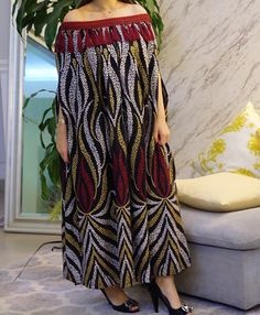 Long African Dresses, Latest African Fashion Dresses, African Print Fashion, Abaya Fashion, Fashion Outfits, African Attire, Classy Dress, Turban Style, Kaftans